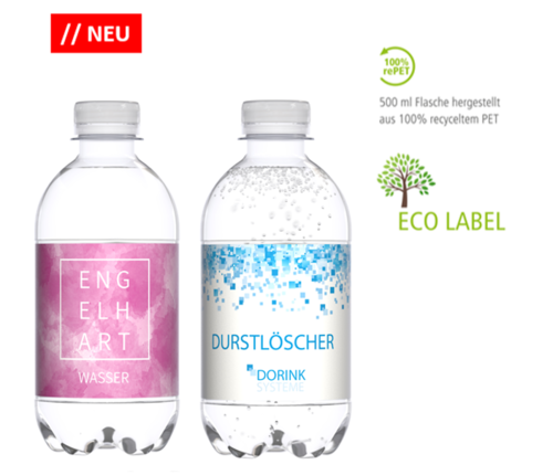 Mineralwasser 330ml in der re-PET-Flasche